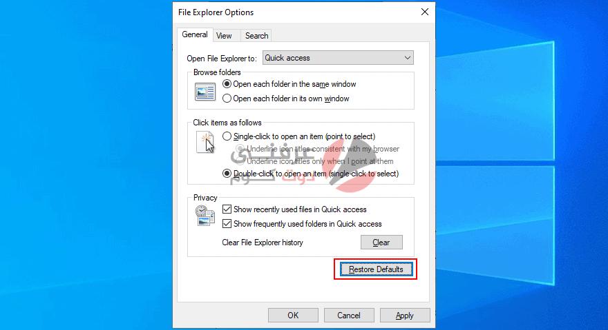 17 طريقة لحل مشكلة File Explorer Not Responding علي ويندوز 10 17