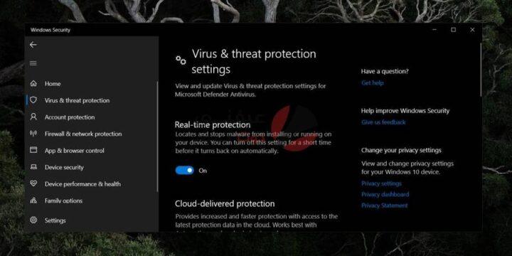 كيفية تشغيل Windows Defender على ويندوز 10 3