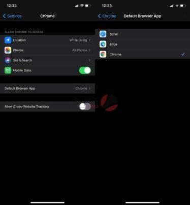 كيفية تغيير المتصفح الافتراضي للآيفون 1