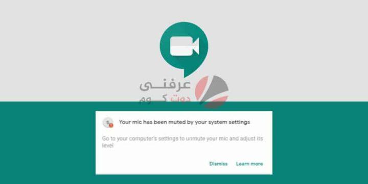 حل مشكلة ميكروفون Google Meet لا يعمل 1