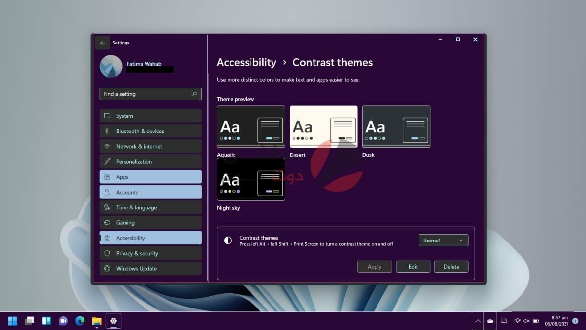 كيفية تغيير وتخصيص ثيم على Windows 11 1