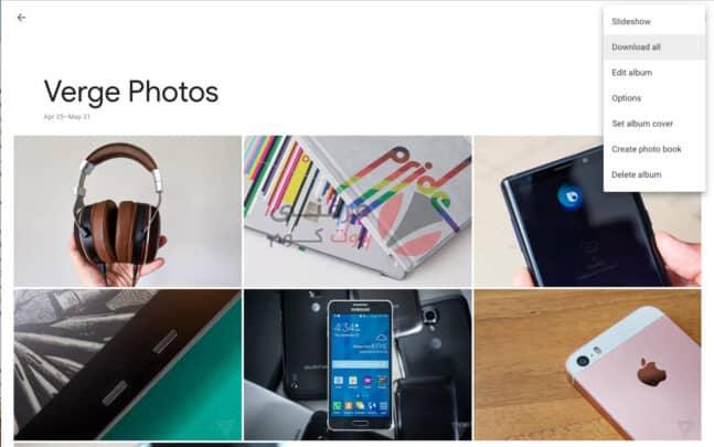 كيفية تنزيل أو مشاركة ألبوم صور Google 2