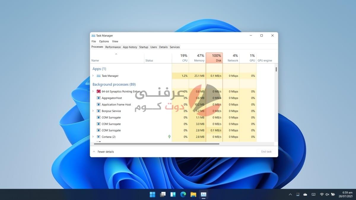 Windows 11 : كيفية فتح Task Manager مدير المهام 1