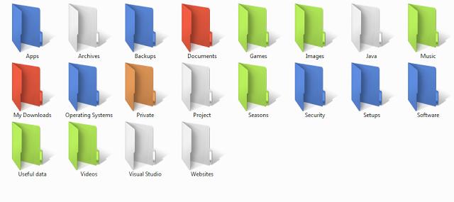 تغير لون الملفات علي الويندوز بواسطه Folder Colorizer الي اي لون تريده